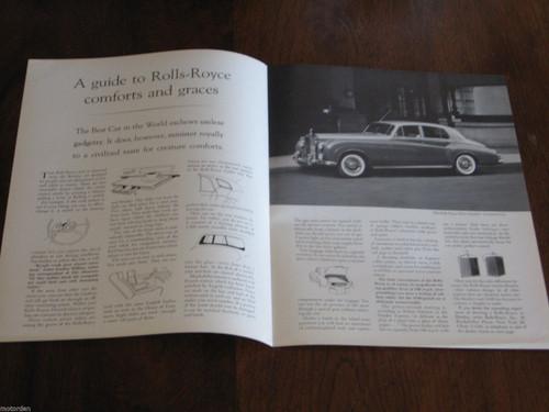 ROLLS-ROYCE Silver Cloud II best car in world SALES FOLDER USA market, FREE POST
