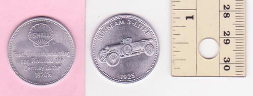 SUNBEAM 3 LITRE 1925 SHELL oil/petrol METAL MEDALLION token? FREE POST