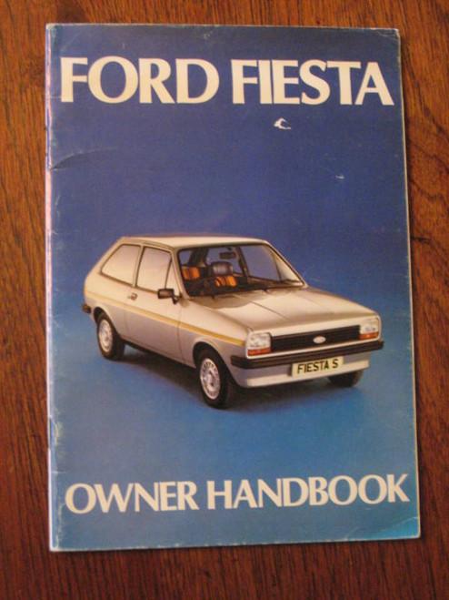 UNUSED? UK FORD, FIESTA OWNER HANDBOOK 1976, FREE POST!