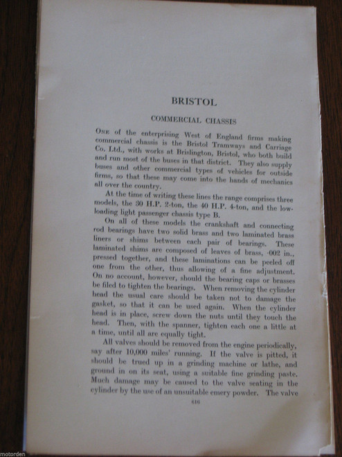 vintage BRISTOL COMMERCIAL 14 pages period notes, illustrated FREE POST