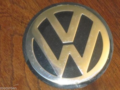 """VW Volkswagen thin aluminium CAR BADGE 3 9/16"""" or 90mm diameter FREE POST"""