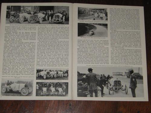 12.8 L 1908 & 4.5 1914 GP MERCEDES Profile 1 authoritative 12p booklet FREE POST