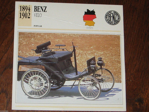 1894-1902 BENZ VELO color photo+specification CARD, FREE POST!