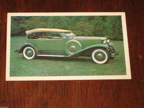 1930 Duesenberg Model J old AUSTRALIAN cereal large swap or post card, Free Post