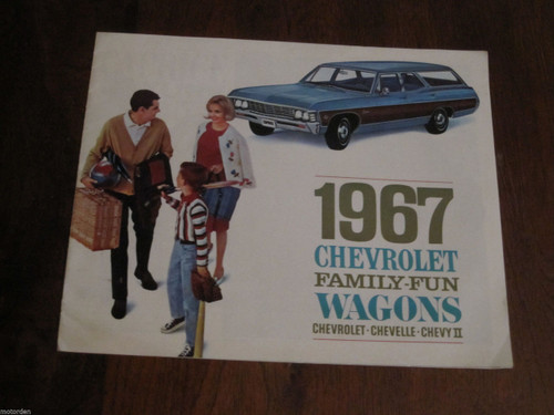 1967 CHEVROLET WAGON CHEVELLE CHEVY II color sales booklet exc. cond. FREE POST