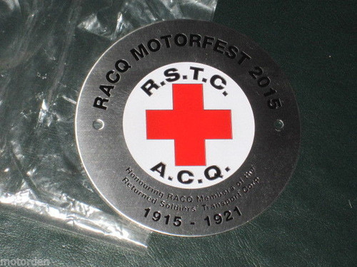 2015 RACQ centenary RETURNED SOLDIERS TRANSPORT CORPS WW1 CAR BADGE FREE POST NR