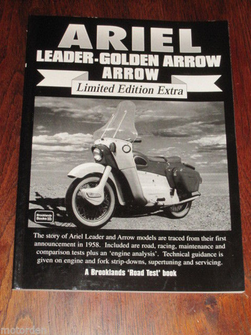 ARIEL Leader & Golden Arrow motor cycle road tests, tech articles NEW, FREE POST