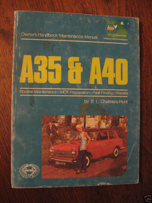 AUSTIN A35 & A40 1956-1967, OWNER HANDBOOK WHORKSHOP MANUAL, FREE POST ANYWHERE!