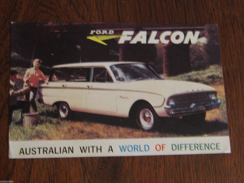 Australia FORD FALCON Station Wagon original color advert POSTCARD FREE POST