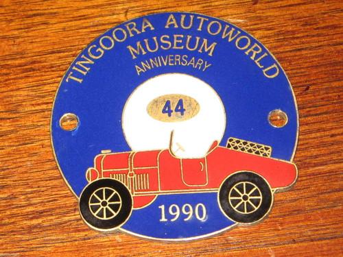 AUSTRALIA vintage car museum CAR BADGE Fiat racer? Tingoora Autoworld, FREE POST