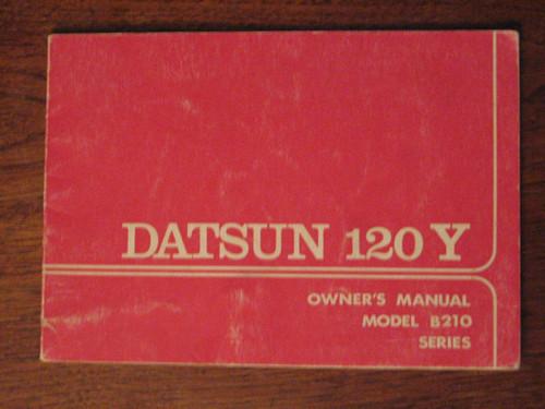 DATSUN 120Y model B210 Australia HANDBOOK 1975 ENGLISH language Nissan FREE POST