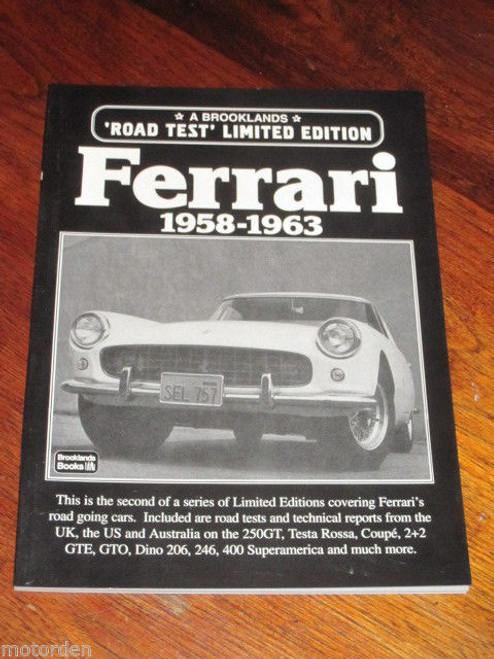 FERRARI 1958-1963 250GT Testa Rossa Coupe 2+2 GTE GTO Dino 206 246 400 FREE POST