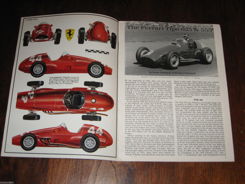 FERRARI Tipo 625 & 555 well illustrated booklet Profile 12 FREE POSTAGE ANYWHERE