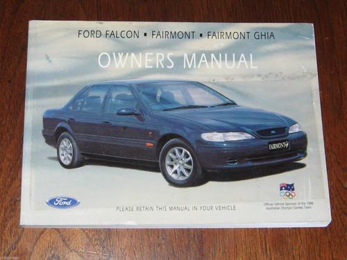 FORD FALCON/FAIRMONT/GHIA Australian 1995 OWNER MANUAL HANDBOOK 190pg, FREE POST