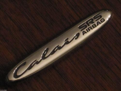 "Holden ""Calais SRS"" original 3+"" CAR BADGE Australia chrome/plastic FREE POST"