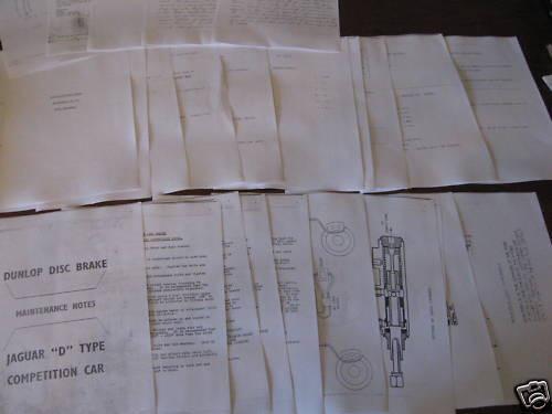 JAGUAR D TYPE copy rare instructions & notes, FREE POST