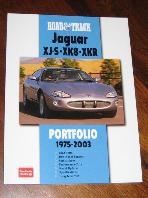 JAGUAR XJS XK8 XKR 1975 - 2003 ROAD TEST BOOK colour illustrated NEW, FREE POST!