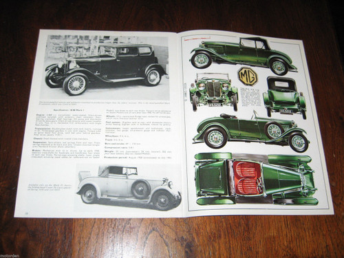 MG 18/80 M.G. very well illustrated 1967 booklet 12 pages Profile 86, FREE POST