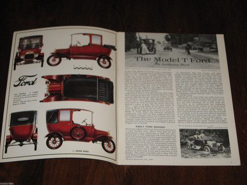 Model T Ford very well illustrated 1966 booklet Profile 13, FREE POST