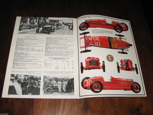 P2 Grand Prix Alfa Romeo illustrated 1967 booklet 12 pages Profile 87, FREE POST