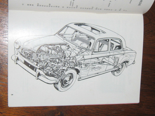 PEUGEOT 403 INSTRUCTIEBOEKJE undated BOOK DUTCH LANGUAGE, FREE POST to anywhere!