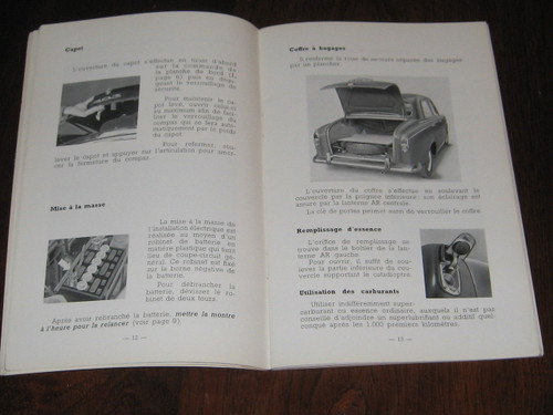 PEUGEOT 403 Notice D'Entretien May 1964 BOOK FRENCH LANGUAGE FREE POST anywhere!
