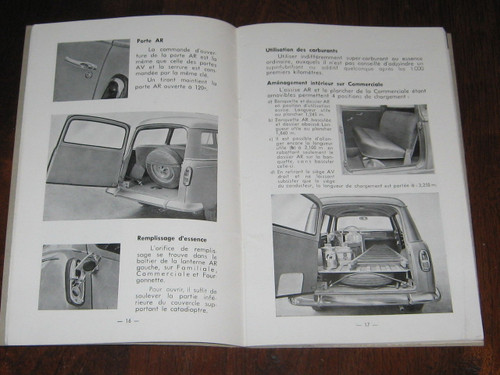 PEUGEOT 403L & 403U Notice D'Entretien 1961 BOOK FRENCH LANGUAGE 403, FREE POST