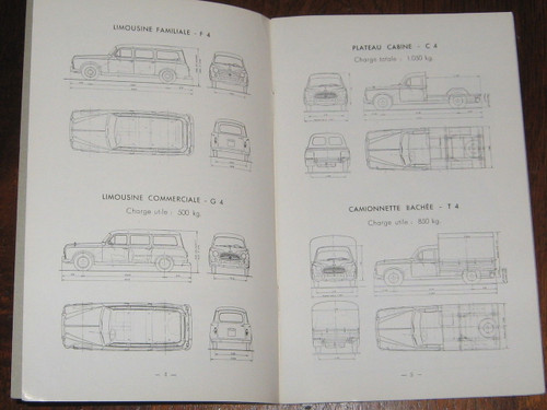 PEUGEOT 403L & U Notice D'Entretien 1959 BOOK FRENCH LANGUAGE FREE POST anywhere