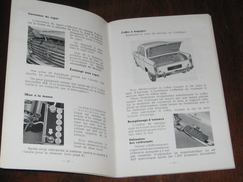 PEUGEOT 404 Notice D'Entretien 1962 BOOK FRENCH LANGUAGE, FREE POST anywhere!