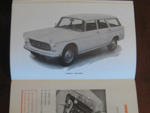 PEUGEOT 404L & 404 U6 wagon INSTRUCTION BOOK 1963, ENGLISH LANGUAGE, FREE POST