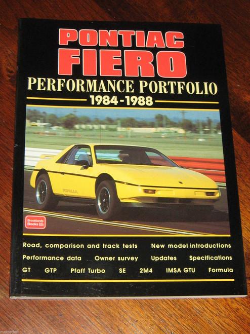 PONTIAC FIERO 1984-1988 GT GTP Pfaff Turbo SE 2M4 IMSA GTU Formula NEW+FREE POST