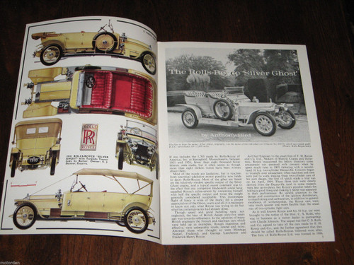 "Rolls-Royce ""Silver Ghost"", well illustrated 1967 booklet Profile 91 FREE POST"