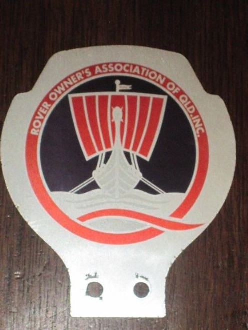 ROVER OWNERS ASSOCIATION QLD Australia, ORIGINAL member's CAR BADGE FREE POST NR