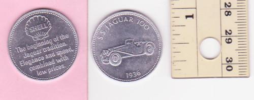 SS100 JAGUAR 1936 SHELL oil/petrol METAL MEDALLION token? FREE POST