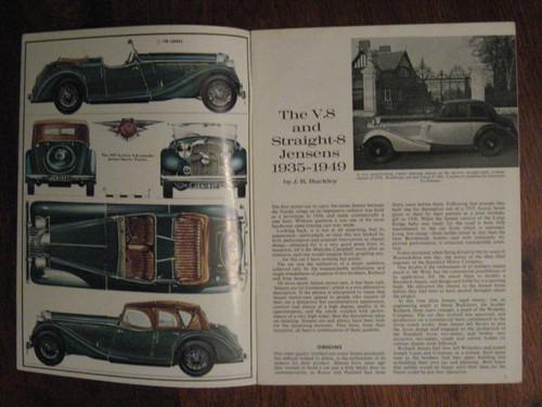 V8 & STRAIGHT 8 JENSENS 1935-1949, Profile 77 FREE POST