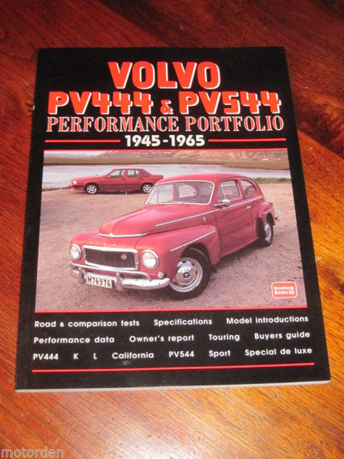 Volvo 1945-1965 PV444 & PV544 Performance Portfolio 136pages NEW BOOK, FREE POST