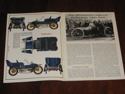 WOLSELEY, Horizontal-engined Wolseleys 1900 - 1905 boolet, Profile 43, FREE POST