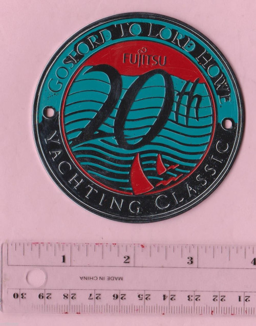 Yacht Race GOSWORD LORD HOWE ISLAND Yachting Classic CAR or BOAT BADGE FREE POST
