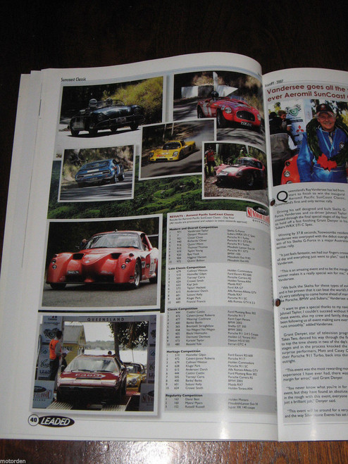 Australia LEADED sport/classic car MAGAZINE, Peter Brock Austin 7, MG, FREE POST