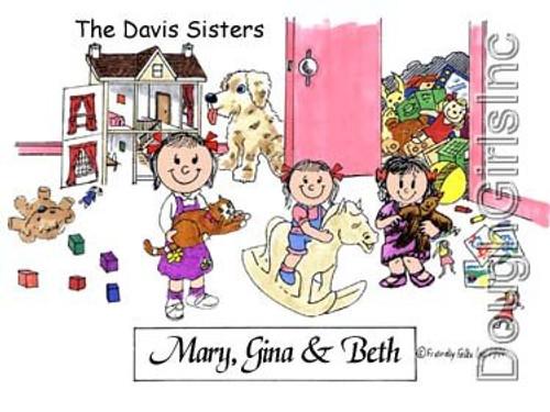 3 Sisters in Girls Room