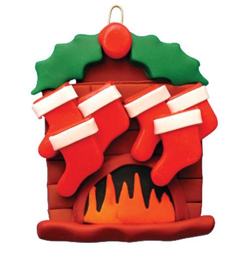Fireplace Family 6 Stockings