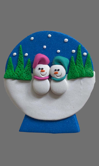 Snow Globe Family 2 Snowman