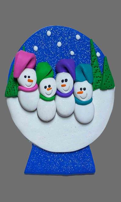 Snow Globe Family 4 Snowman