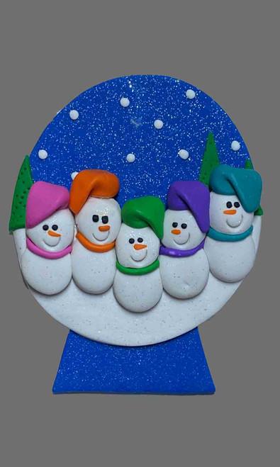 Snow Globe Family 5 Snowman