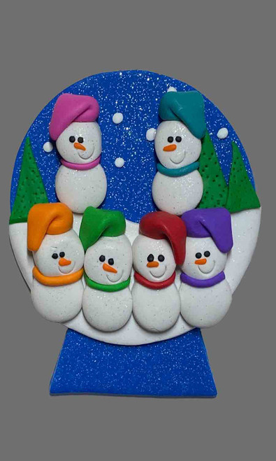 Snow Globe Family 6 Snowman