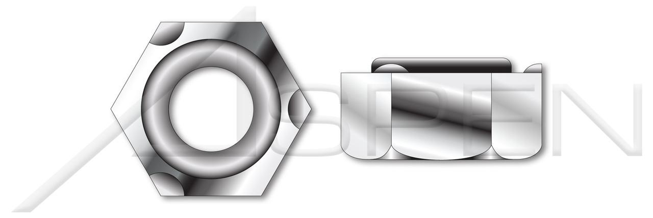 M5-0.8 DIN 929, Metric, Hex Weld Nuts, A2 Stainless Steel