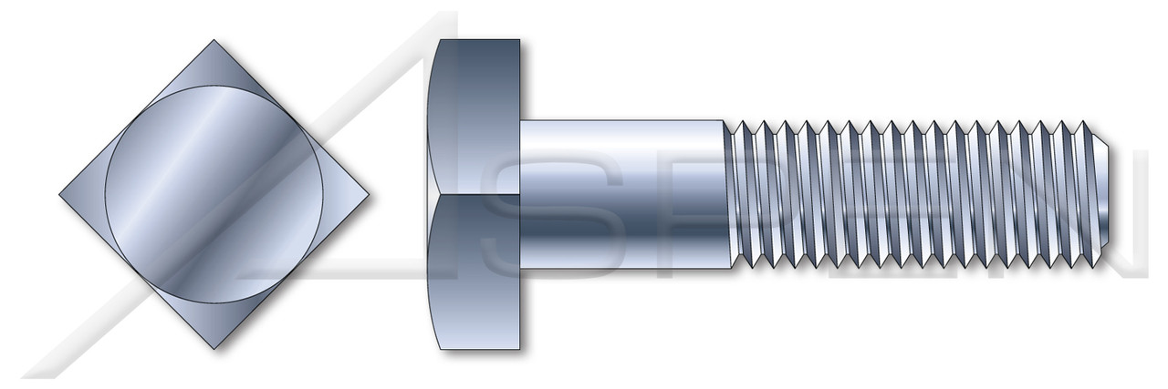 """5/16""""-18 X 1-1/4"""" Battery Bolts, Square Head, Steel, Zinc Plated"""