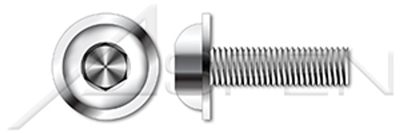 Thread Size M8-1.25 FastenerParts 18-8 Stainless Steel Low Profile Precision Shoulder Screw
