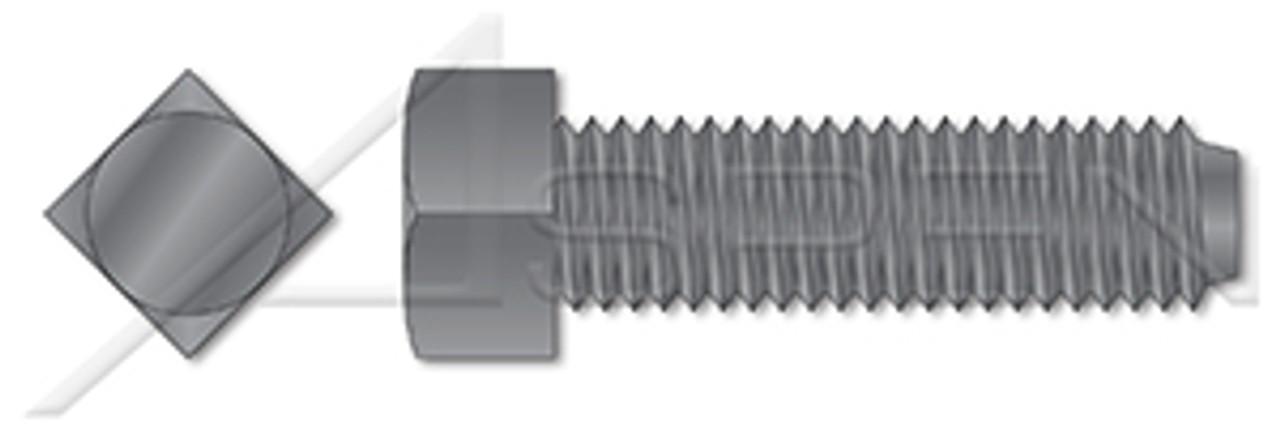 Metric DIN 479 M6X20 Square Head Set Screw 50 pcs Grade 8.8 Tensile 120,000 psi Black Steel 8.8 Steel Plain Finish