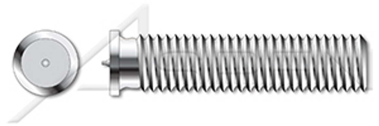 M8-1.25 X 20mm ISO 13918, Metric, Weld Studs, Type PT, A2 Stainless Steel